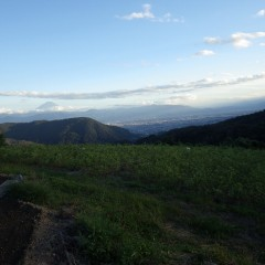そして富士山の見守る中、日が暮れていきます