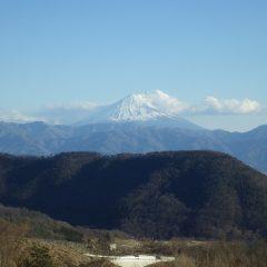 作業が終わる頃、久し振りに富士山が綺麗に見えました