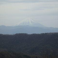 富士山が霞んで見えました