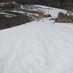 日当たりの良いジャーマン畑もまだ雪に覆われています