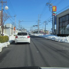 市内の道路は除雪も終わって日常を取り戻しました