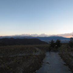 日が傾くと寒さが一段と身に浸みます