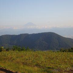 作業が終わった黄昏時になると富士山が姿を見せてくれました
