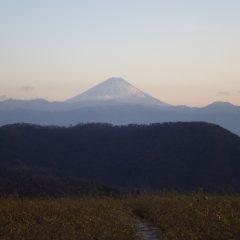 今日の作業が終わると富士山が見送ってくれました